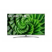 Televizor LED LG 55UN81003LB, 4K, 139 cm, Procesor Quad Core 4K, Sunet Ultra Surround, Smart TV, CI+, Bluetooth, Wi-Fi, Clasa energetica A, Negru/Argintiu