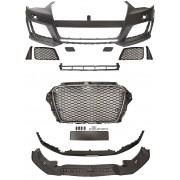 Paraurti anteriore TUNING look RS3 per AUDI A3 8V 2012 2013 2014 2015 2016 3 e 5 porte Sportback calandra cromata nera griglie spoiler per lavafari per sensori
