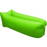 Saltea Gonflabila tip Sezlong Lazy Bag pentru Plaja sau Piscina + Rucsac Depozitare culoare Verde deschis
