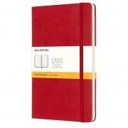 Moleskine Classic Cuaderno 240 Hojas Páginas Rayadas Tapa Dura Rojo