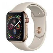 Apple SmartWatch APPLE Watch Series 4 GPS+Cellular Koperta 44 mm ze stali nierdzewnej w kolorze złotym z paskiem sportowym w kolorze piaskowca MTX42WB/A