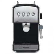 Espressor semi-automat Heinner HEM-B2012SA, 20 bar, 850W, rezervor apa detasabil 1.2l, optiuni presetate pentru espresso lung scurt, filtru din inox, plita pentru mentinere cafea calda, decoratii inox