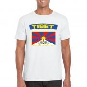 Bellatio Decorations Tibetaanse vlag shirt wit heren