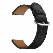Genuine Leather Watch Strap Smart Watch Band Watchband for Samsung Gear S3 Classic / S3 Frontier - Black