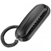 Telefone Gôndola TCF 1000 Preto Compatível Com Centrais Públicas e Pabx - Função Flash e Redial - Elgin