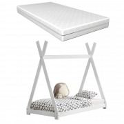 [en.casa]® Detská posteľ AAKB-8674 s matracom