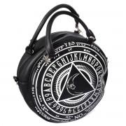 Gotycka okrągła torebka na ramię CURSE BAG