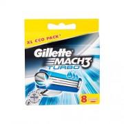 Gillette Mach3 Turbo 8 ks náhradné ostrie pre mužov