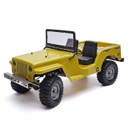 RGT Rock Crawler, 1/10 Scale Military Simulation-vehicle Crawlers Racing Electric 4wd Off Rock Cruiser RC-4 Climbing Rc Car ( Army Yellow )