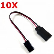 10X 10cm Servo 60-core Extension Wire Cable For FUTABA JR