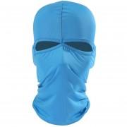 Balaclava Estilo Unisex Lycra Elastica Doble Mascara De Cabeza De Agujeros De Ciclismo (azul)