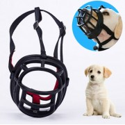 Dog Muzzle Prevent Biting Chewing and Barking Allows Drinking and Panting Size: 6.8*6.3*7.8cm(Black)