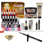 12 Lipstick 12 Nail Paint With Skin Care Combo Makeup Sets Pack of 31