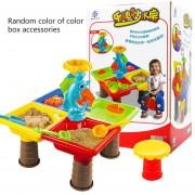 22pcs / set Juego de piscina de arena para mesa de playa para niños Herramientas de dragado de arena para agua para bebés