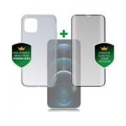 4smarts 360° Premium Protection Set Apple iPhone 12 / 12 Pro Zwart