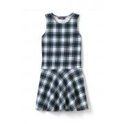 ランズエンド LANDS' END ガールズ・ニット・パターン・ジャンパー・ドレス【キッズ・子供服・女の子】(ホワイトプラッド)