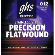 GHS Strings 900 Precision Flats Stainless Steel Flat Wound Electric Guitar Strings Light (.012-.050)