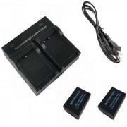 LPE17 digital x2 camara Bateria + Cargador doble para Canon EOS 750D M3 760