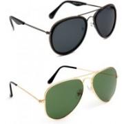 TheWhoop Aviator Sunglasses(Green, Black)