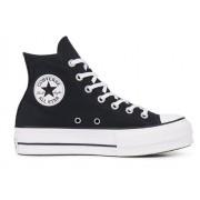 Converse Sneakers Scarpe Donna All Star Hi Canvas, Taglia: 37, Per adulto Donna, Nero, 560845C-001