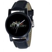 Lava CreationSport Round Mahadev Design Dial Black Leather Strap Analog Watch For Men ( Sport mahadev m2)
