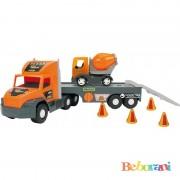 Голям камион с ремарке и малък бетоновоз WADER