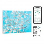 Klarstein Wonderwall Air Art Smart, инфрачервен нагревател, 80 х 60 см, 500 W, цветя (HTR10-WdwlS500wBlssm)