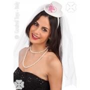 Palarie Bride to cu voal