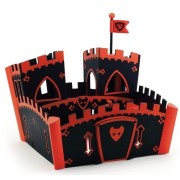 Djeco Arty Toys Action Figures Ze Red Wooden Castle