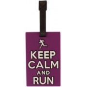 Tootpado Luggage Tag Keep Calm And Run - Purple (6LNT65) - Bag Travel Tags Luggage Tag(Purple)
