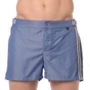 Hom Мужские пляжные шорты на липучке джинсового цвета (деним) HOM Jeans 35c9970c00BI