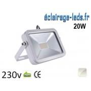 Projecteur LED extérieur 20W Blanc froid 230v