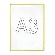 Tarifold Klarsichttafel VE 10 Stk, für DIN A3 gelb
