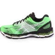 Asics Gel-Nimbus 17 (2E) Men Running Shoes For Men(Green, White, Black)