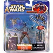 Star Wars JANGO FETT Deluxe Set AOTC Episode 2 w/ electronic jetpack and accessories
