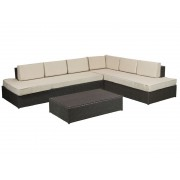 Conjunto sofás con mesa