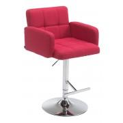 CLP Taburete tela Los Angeles , rojo rojo, altura del asiento