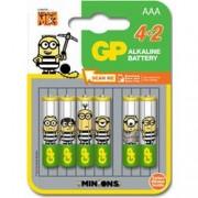 Gp Batteries Blister 4+2 Batterie Alcaline AAA MiniStilo GP Minions