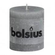 Bolsius Stompkaars rustiek 8x7 cm lichtgrijs