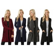 Hangzhou Yuxi Trade Co. Ltd (t/a PinkPree) £9.99 instead of £29.99 for a ladies' waterfall cardigan with pockets in UK sizes 1020 from Pinkpree - save 67%