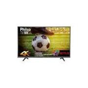 "Smart TV 55"" LED Philco PTV55U21DSWNT 4K Ultra HD com Wi-Fi 2 USB 3 HDMI"