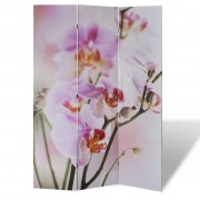 vidaXL Параван за стая с принт 120 х 180 см, мотив цветя