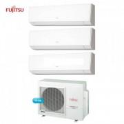 Fujitsu Climatizzatore Condizionatore Fujitsu Trial Split Parete Inverter Serie Lm 9+12+12 Btu + Aoyg24l