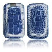 Housse Croco - Apple iPhone 3G / 3GS / 4 / 4S / Samsung i900 OMNIA - Granat