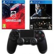Игра DRIVECLUB PS4+Игра Mortal Kombat XL PS4+Геймпад - Sony PlayStation DualShock 4 Wireless