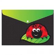 """Ashley Productions Ladybug Design Poly Folder with Snap, 9.5"""" x 13"""""""