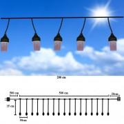 Sir Luminos LED-Halogen, EXTERIOR, Alb-Rece, 5m, DEC6009W