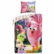 Lenjerie de pat Angry Birds movie 1155, din bumbac, pentru copii, 140 x 200 cm, 70 x 90 cm