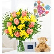 Rose and Freesia Gift