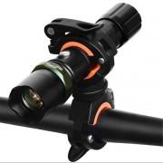 Meco BIKIGHT Bike Front Flash Light Torch 360° Rotation Clamp Mount Holder